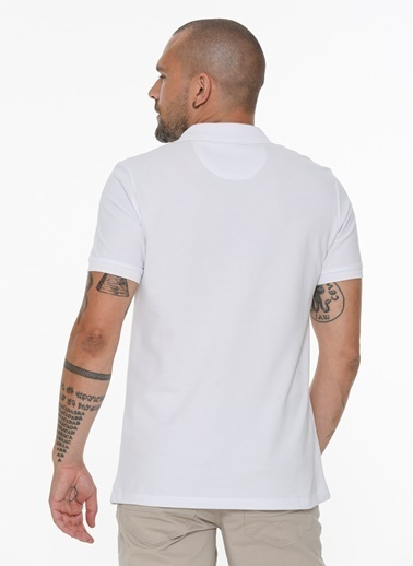 Beymen Business 4B4820200015 Slim Fit Tişört Baskılı Beyaz
